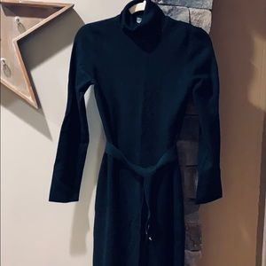 Ann Taylor turtleneck sweater dress with belt